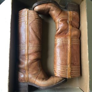 Frye Vintage tall leather Campus Boots 8.5 western